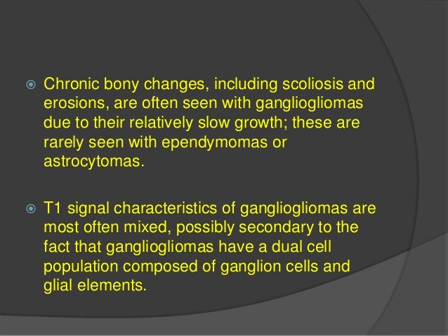  Spinal hemangioblastomas may be associated with syrinx that are usually more extensive than those seen with ependymomas ...