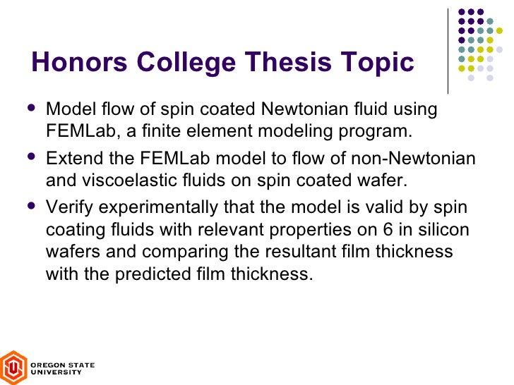 honors thesis what is Research tracks all honors college students must complete a research track consisting of either a thesis or capstone course thesis is an individual research.