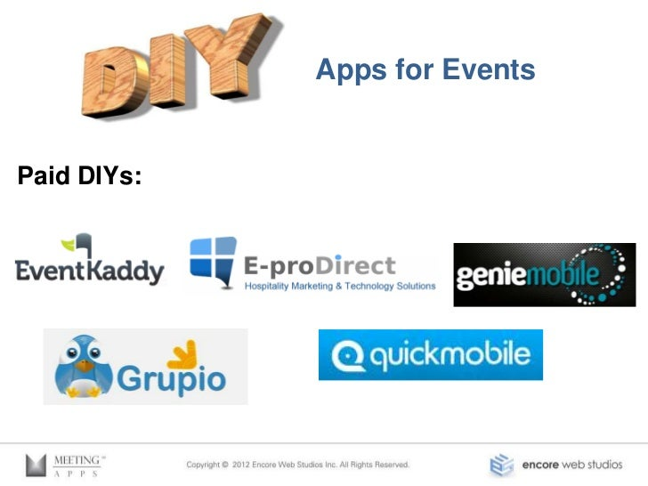 Do It Yourself Apps for EventsFree DIY Apps: