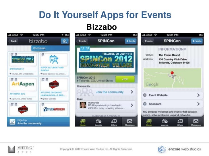 Do It Yourself Apps for Events         Bloodhound http://spincon.getbloodhound.com/