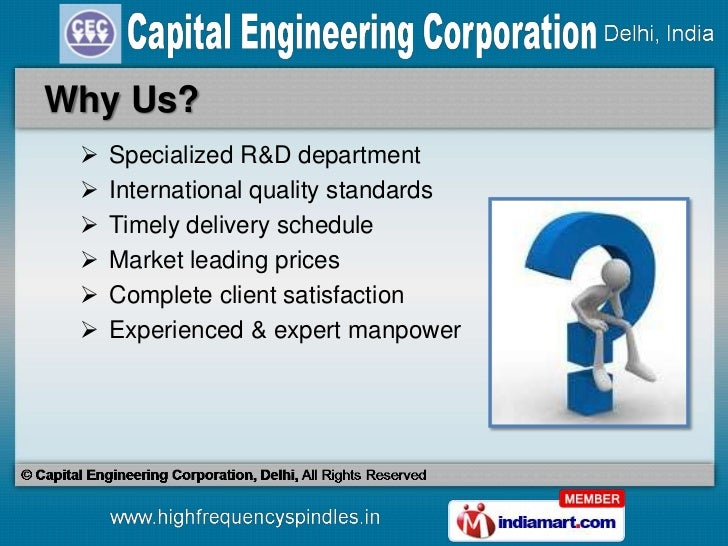 Spindle & Spindle Accessories by Capital Engineering Corporation, Delhi, New Delhi Slide 3