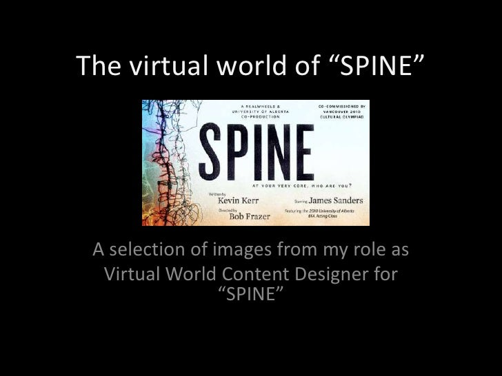 "The virtual world of ""SPINE""<br />A selection of images from my role as<br />Virtual World Content Designer for ""SPINE""<br />"