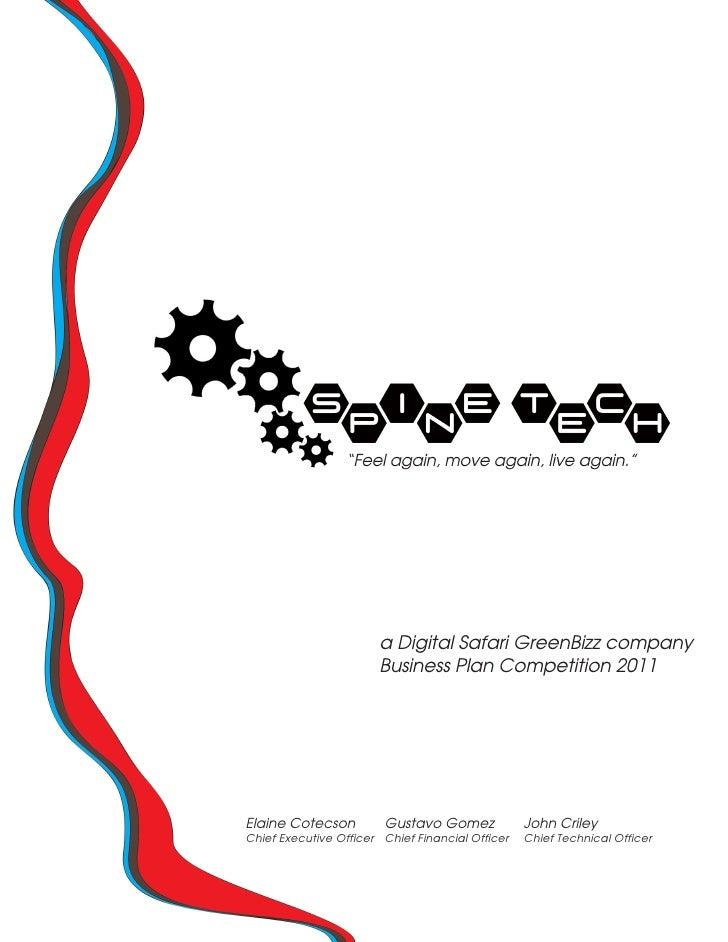 a Digital Safari GreenBizz company                       Business Plan Competition 2011Elaine Cotecson         Gustavo Gom...