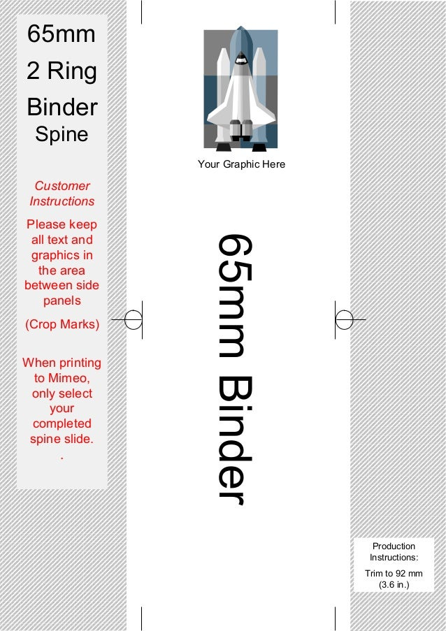 Spine Templates For 2 Ring Binders On Mimeo.Co.Uk