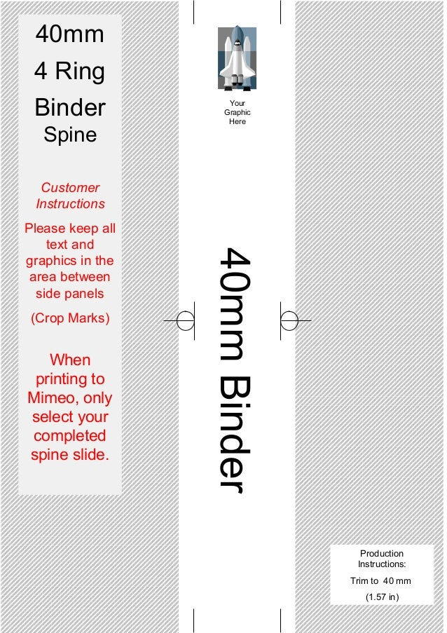 Spine Templates for your 4 Ring Binders – Binder Spine Template