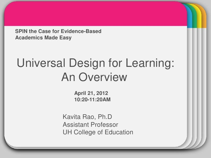 Academics Made Easy  WINTERSPIN the Case for Evidence-Based                       TemplateUniversal Design for Learning:  ...