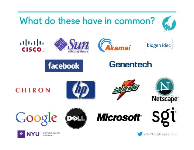 @NYUEntrepreneur What do these have in common?
