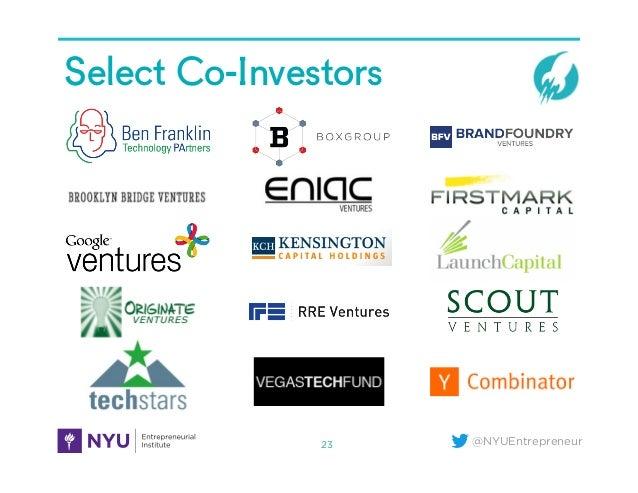 @NYUEntrepreneur Select Co-Investors 23