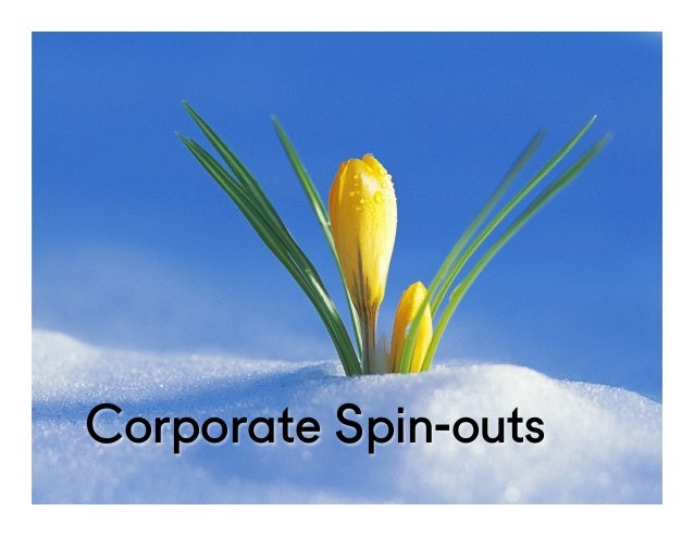 @NYUEntrepreneur Corporate Spin-outs