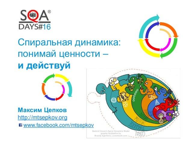 Спиральная динамика: понимай ценности – и действуй Максим Цепков http://mtsepkov.org www.facebook.com/mtsepkov