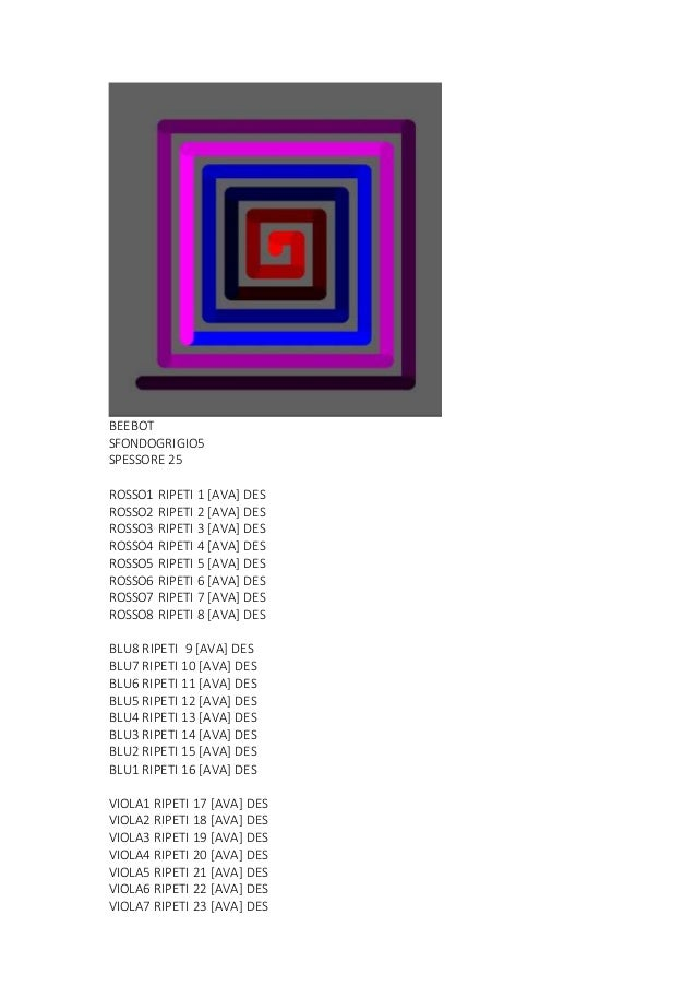 BEEBOT SFONDOGRIGIO5 SPESSORE 25 ROSSO1 RIPETI 1 [AVA] DES ROSSO2 RIPETI 2 [AVA] DES ROSSO3 RIPETI 3 [AVA] DES ROSSO4 RIPE...