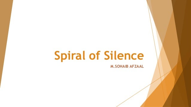 Spiral of Silence M.SOHAIB AFZAAL