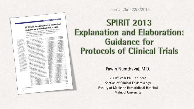 Journal Club 22/3/2013     Pawin Numthavaj, M.D.        2008th year Ph.D. student    Section of Clinical EpidemiologyFacul...