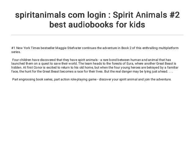 spiritanimals com login : Spirit Animals #2 best audiobooks for kids