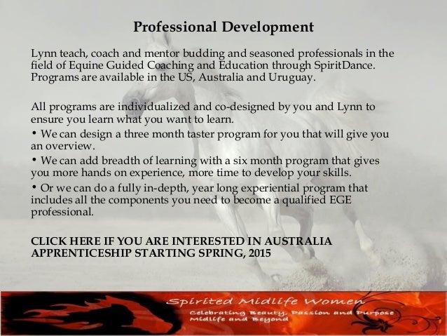 Australia Apprenticeship 2015 Lynn Baskfield is bringing her highly successful Wisdom Horse Apprenticeship program to Aust...