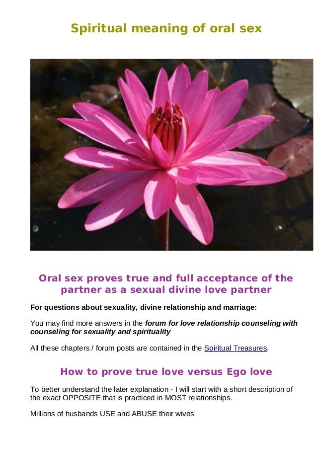Spiritual meaning of sexuality