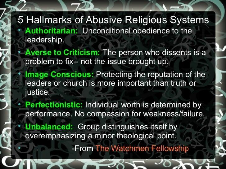 Spiritual Abuse I