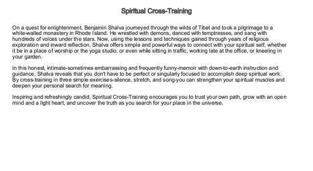 Spiritual Cross-Training Audiobook Free | Audiobook for