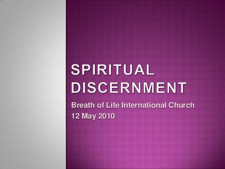 Breath of Life International Church12 May 2010