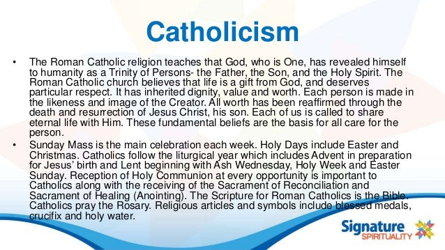 Basic Tenets of Catholicism