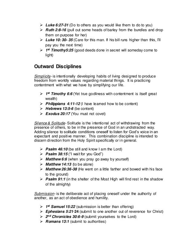 Spiritual Formation Plan Worksheet – Change Plan Worksheet