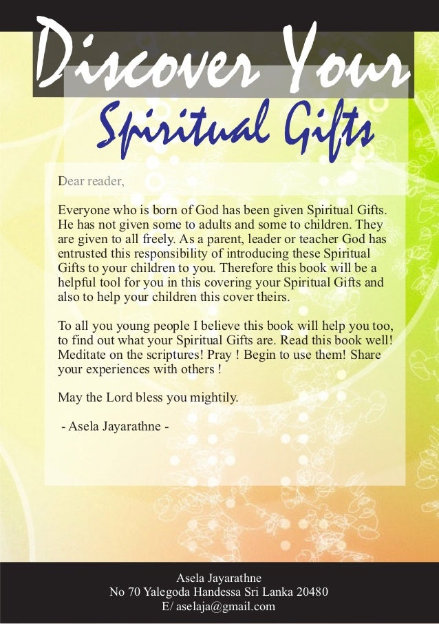 Discover your spiritual gifts by asela jayarathne negle Images