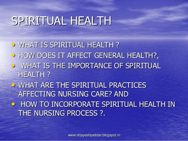 spiritual health The science of spirituality guides you through the latest research on the benefits of having a spiritual practice and offers 5 steps to start your own.