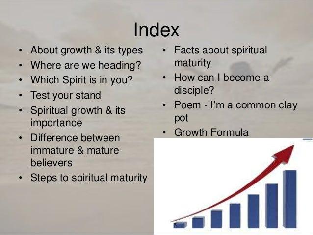 Steps to spiritual maturity