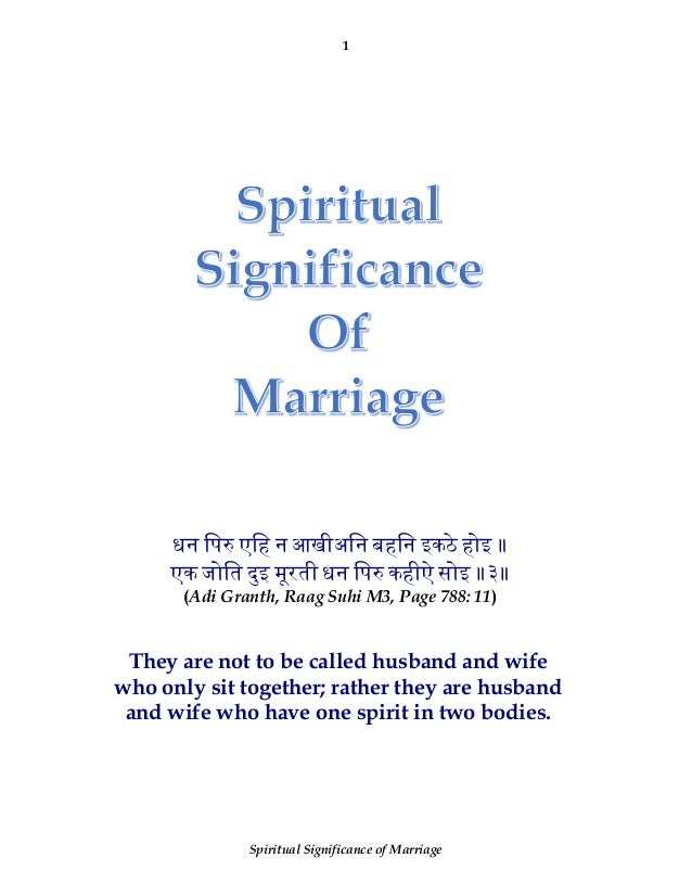Spiritual Significance of Marriage