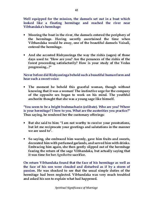 Rishyashringa wife sexual dysfunction