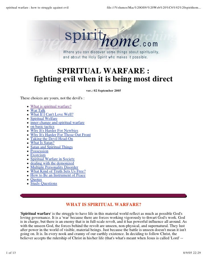 spiritual warfare : how to struggle against evil                    file:///Volumes/Mac%20OS9/%20Web%20%C6%92%20spirithom....