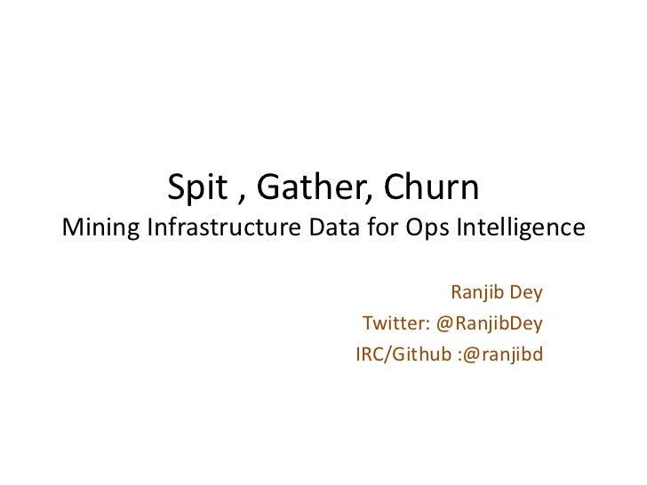 Spit , Gather, ChurnMining Infrastructure Data for Ops Intelligence                                     Ranjib Dey        ...