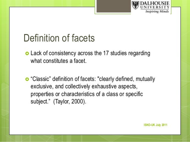 Definition Of Facets ...