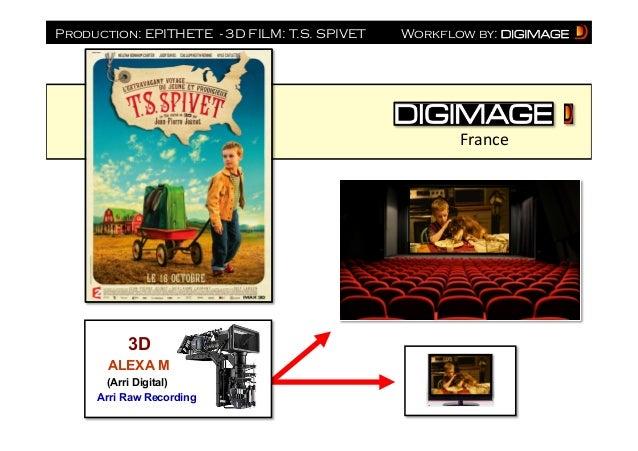 Production: EPITHETE - 3D FILM: T.S. SPIVET  Workflow by:  France    3D ALEXA M (Arri Digital) Arri Raw Recording