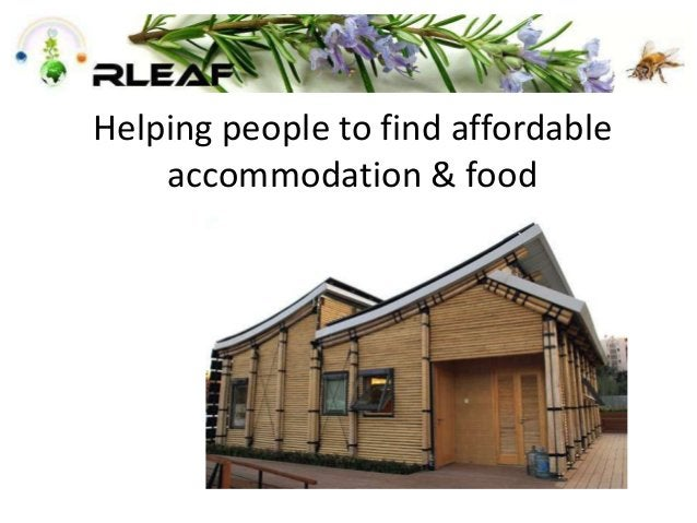 Helping people to find affordable accommodation & food