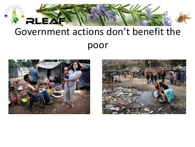 Government actions don't benefit the poor