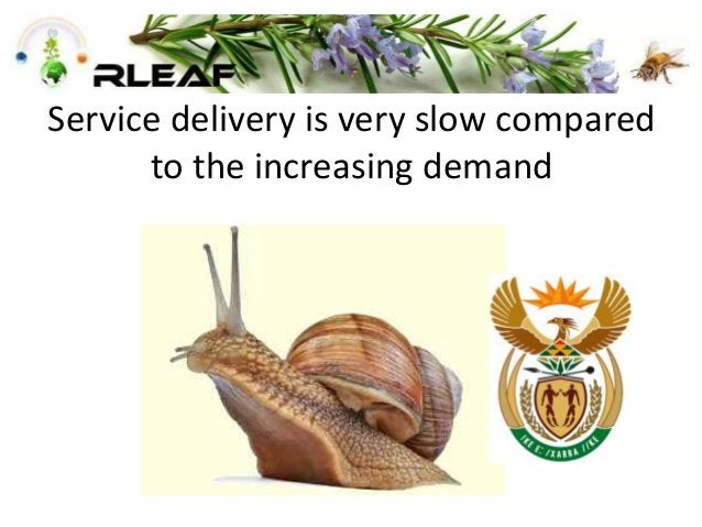 Service delivery is very slow compared to the increasing demand