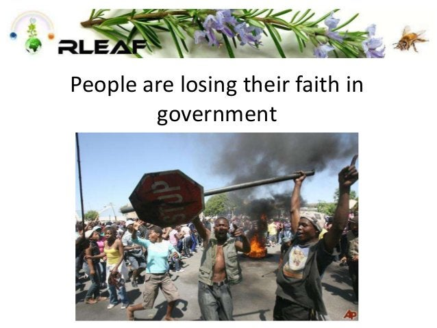 People are losing their faith in government