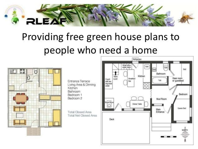 Providing free green house plans to people who need a home