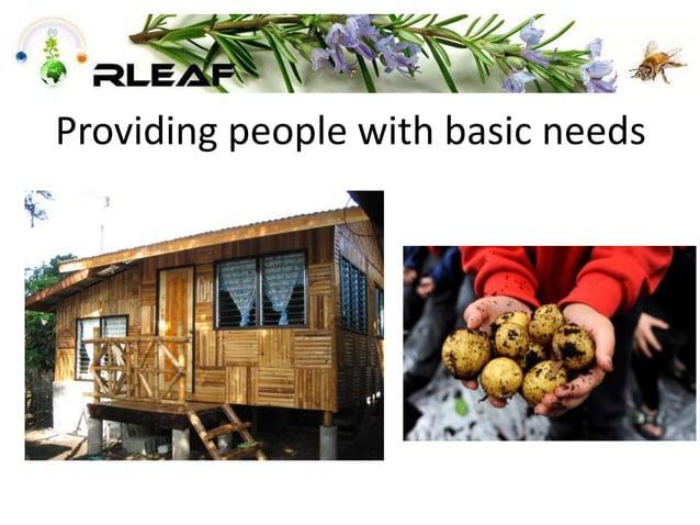 Providing people with basic needs