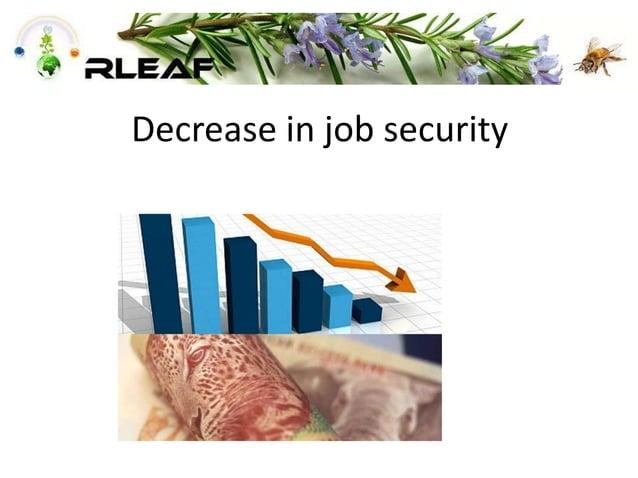 Decrease in job security