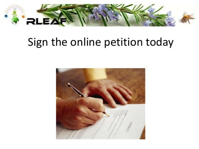 Sign the online petition today