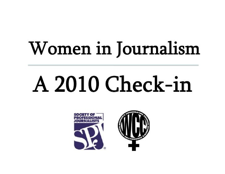 Women in Journalism  A 2010 Check-in