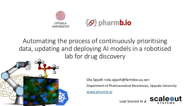 Automating the process of continuously prioritising data, updating and deploying AI models in a robotised lab for drug dis...
