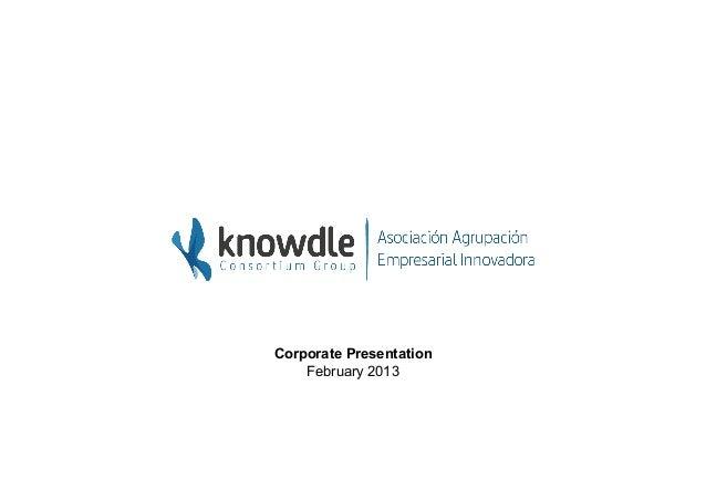 Corporate Presentation    February 2013