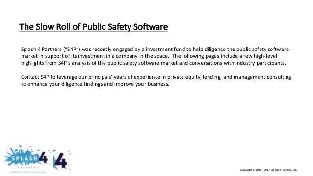 Splash 4 Partners Industry Overlook on Public Safety Software