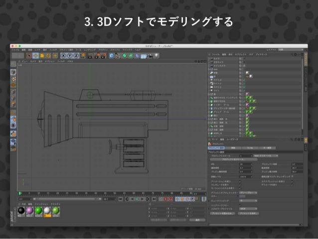 Splatoonのブキを3DCGで作ってみた話