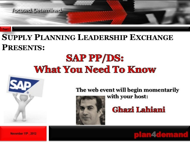 Page1SUPPLY PLANNING LEADERSHIP EXCHANGEPRESENTS:                               The web event will begin momentarily      ...