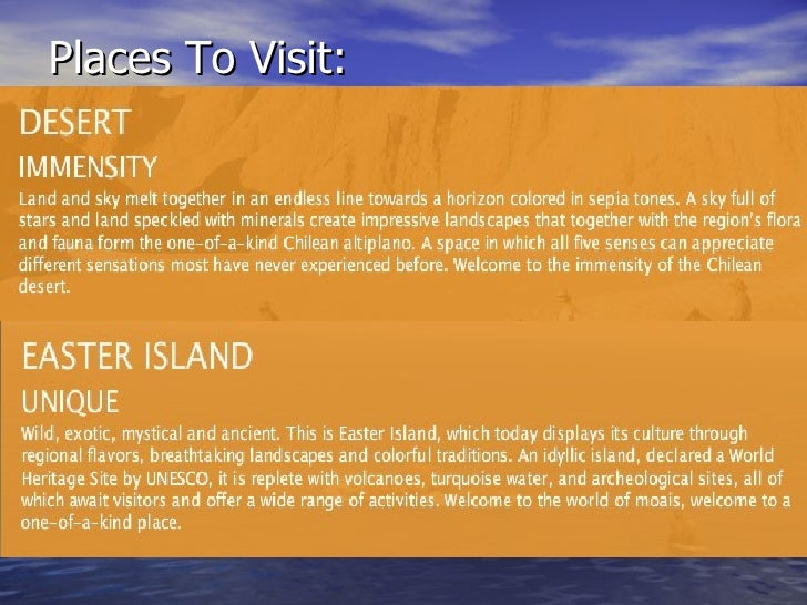 Places To Visit: