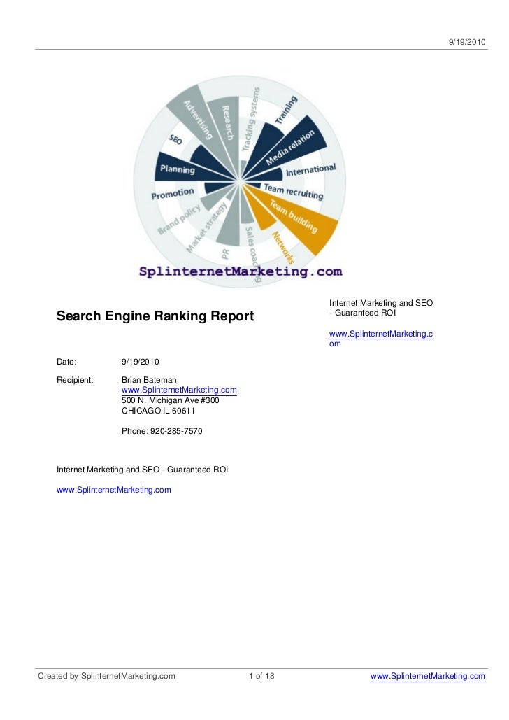 9/19/2010                                                              Internet Marketing and SEO                         ...
